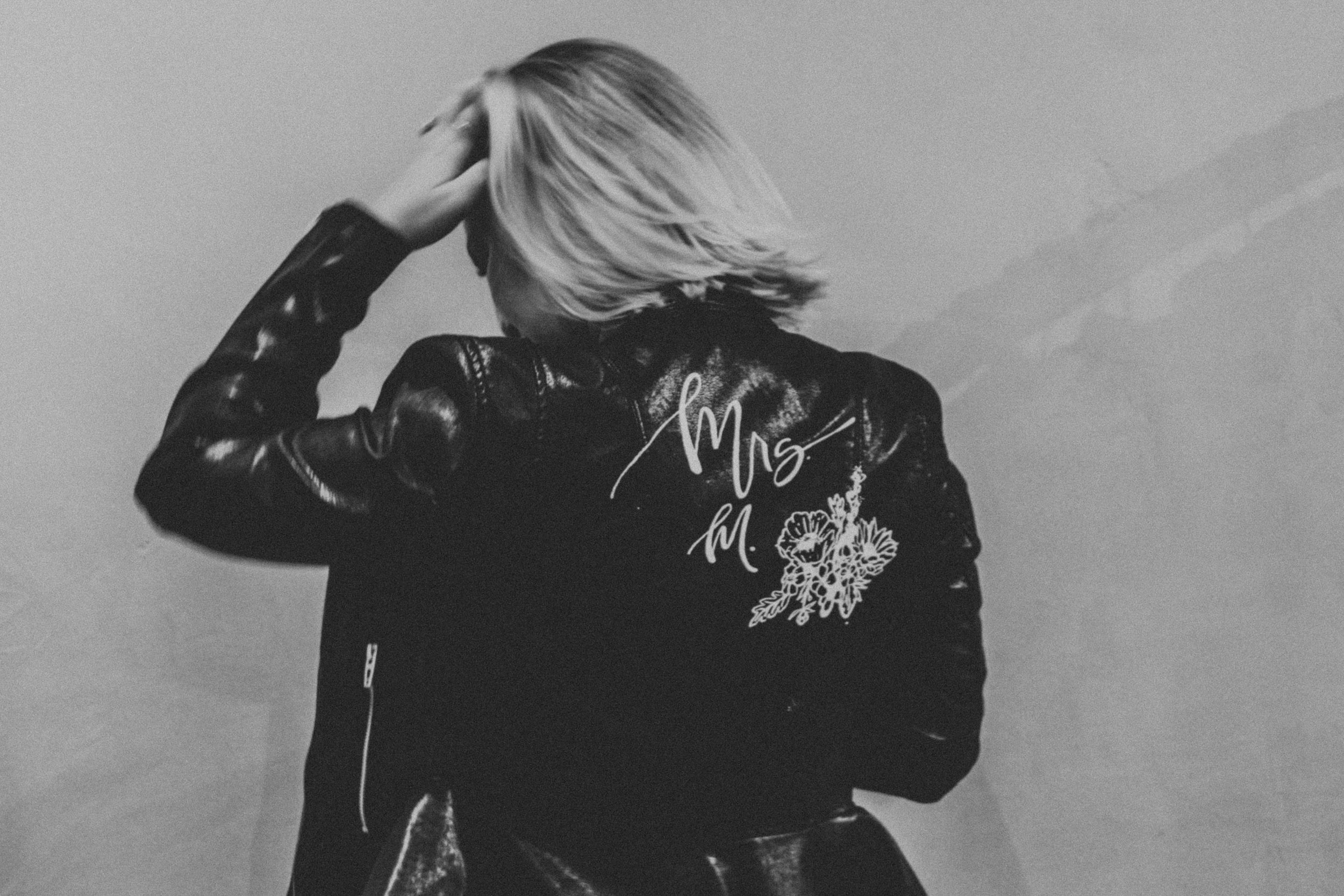 MARY'S LEATHER JACKET - Leather paint | November 2018.Personalized jacket for the future Mrs. Magenheim.