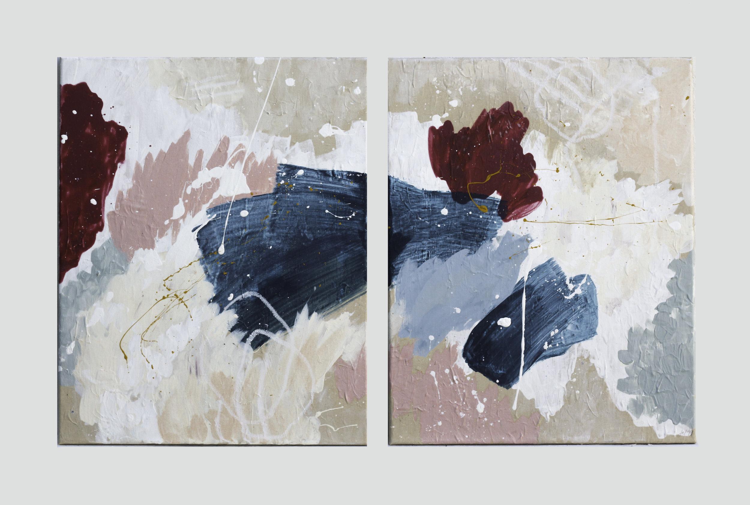 XIMENO - 20 x 32 | Acrylic, watercolor, pastel on canvas |July 2019.