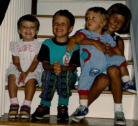 My siblings and I about 25 years ago. Thomas is second from left.