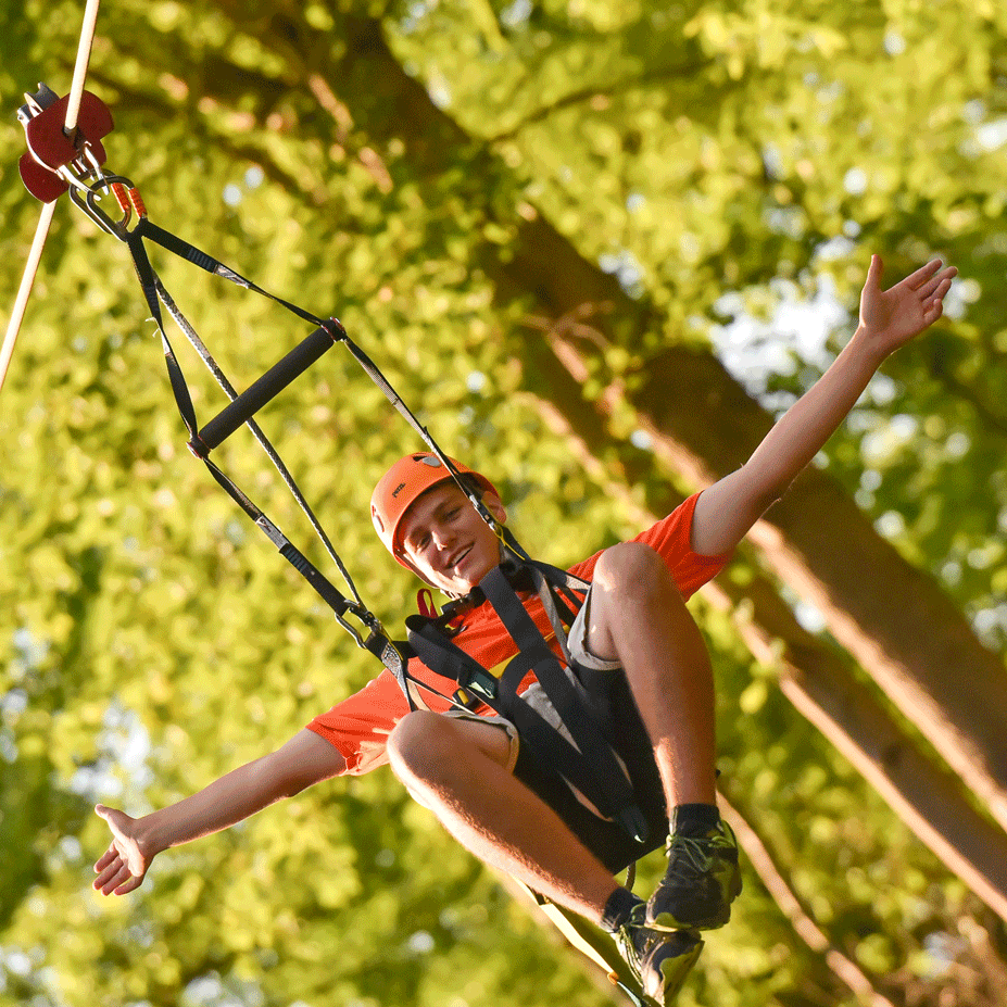 Zip Zone Zipline - Adventure Zone's zipline is the most exciting attraction ever added to