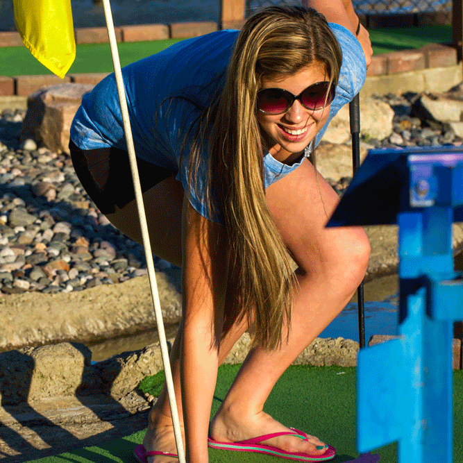 Adventure Golf - Who doesn't like a miniature golf course, with undulating fairways, water hazards, and a hidden hole in the cave? This Par 51 Adventure Golf course is challenging enough for a serious duffer, yet provides lots of fun for 'kids' of all ages. And children under 58