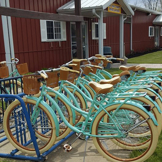Bicycles - A selection of bicycles to match every cyclist are available for rent by the hour or day. Explore the beautiful shore of Lake Erie along the dedicated bike path in Geneva State Park, or cruise the resort