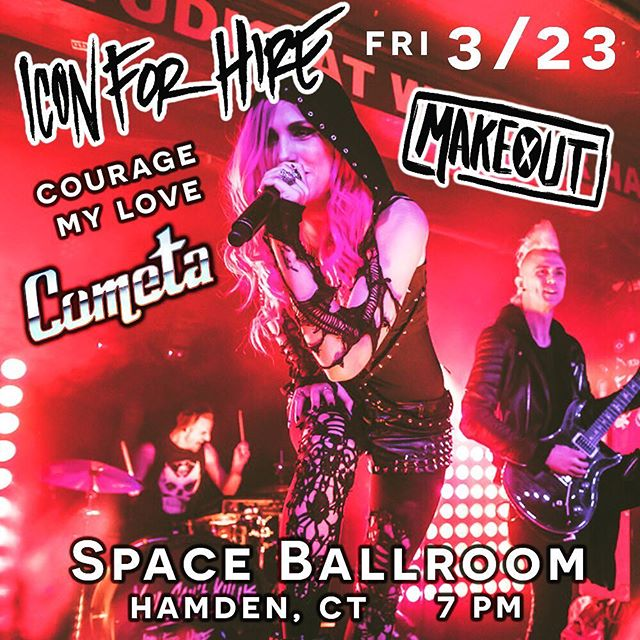 Can't wait for this banger of a show! 🤘🎸 🎶 . (Ticket link in our profile) . Psyched to share the stage with @iconforhire @makeoutofficial & @couragemylove 🎙 . . . . #ctmusic #poppunk #turnyourpainintoart #NewHaven @spaceballroom #bands #music #musician #pinkhair #mohawk #band #rock #punk #livemusic #bandsarelife #twins #twinning