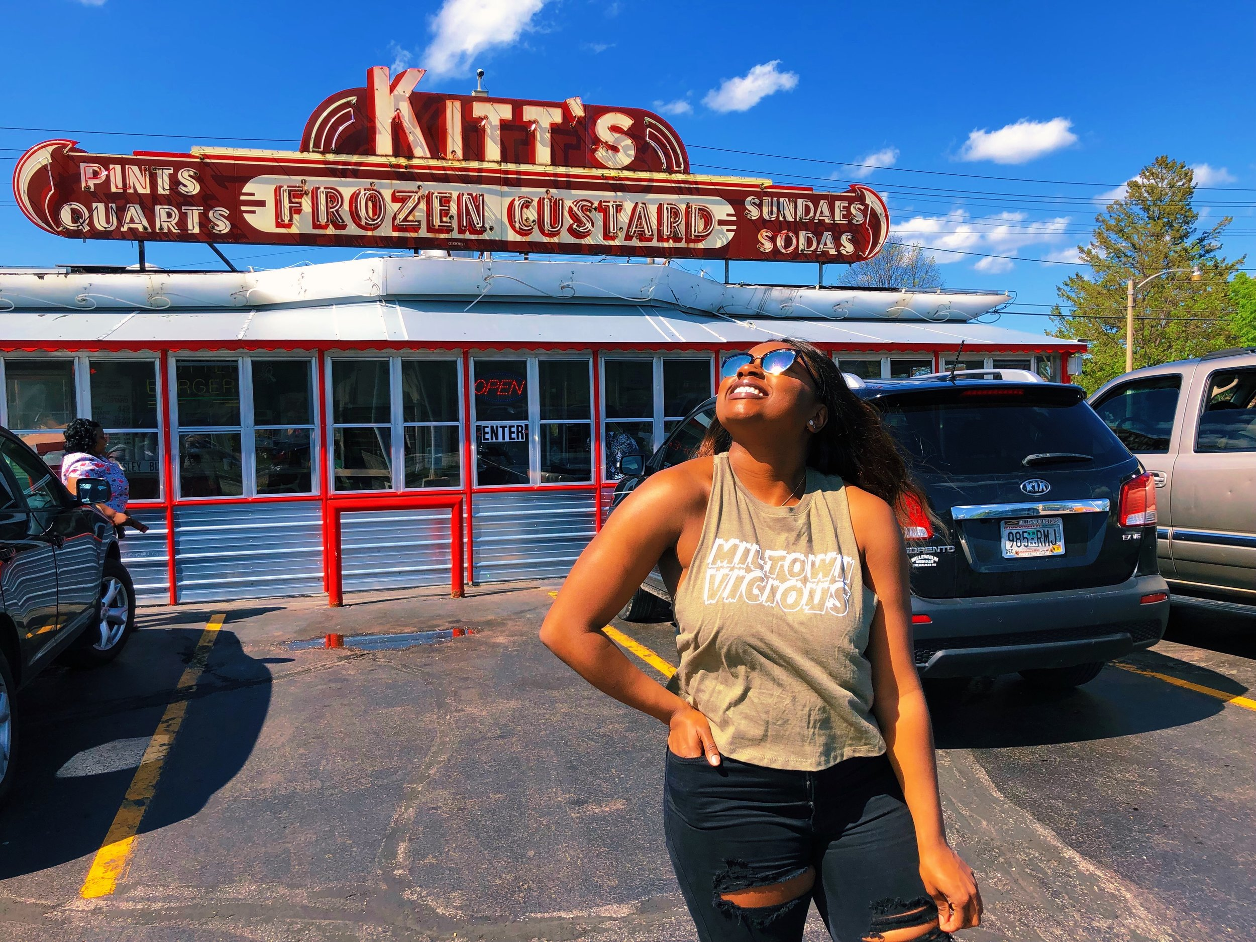 Special thanks to Kitt's Frozen Custard, a Northside staple,  for allowing us to shoot our Summer 2019 collection! You can find them at 7000 W Capitol Dr, Milwaukee, WI 53216
