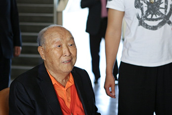 Though he is very ill, True Father takes time to visit the Cheongshim Middle and High School, Cheongpyeong World Peace Center and the Cheongpyeong Training Center.