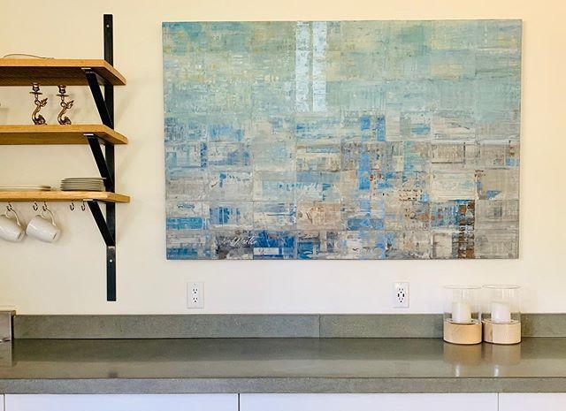 #artwork up ✅ slightly above by @nedmartinart #designdotdesigner #modernfarmhouse