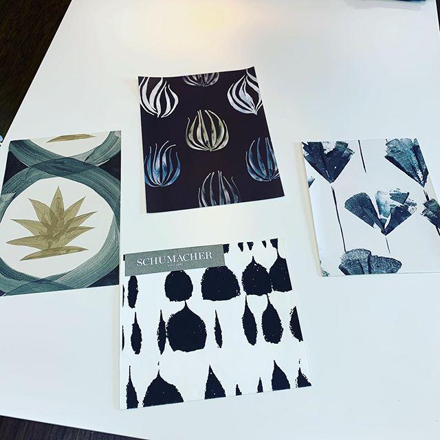 Project Powder Room Wallcovering 🤓🤔 Love them all!!!#designdotdesigner #powderroomwallpaper #interiordesign #fairfieldcounty