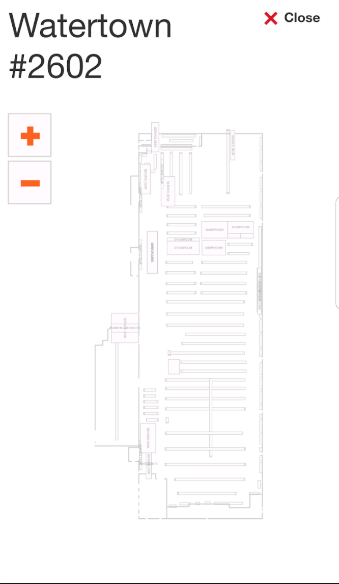Copy of App is generating a blank store map.