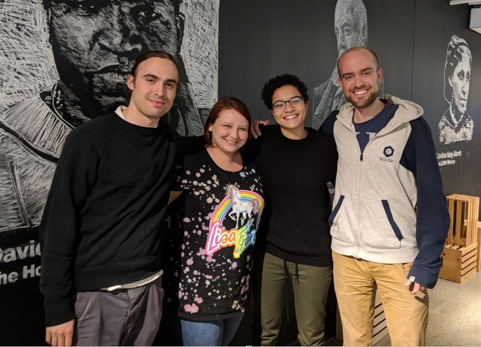 Left to right: William Valvo, Amanda Reiter (me), cass Hebert, Michael Greig
