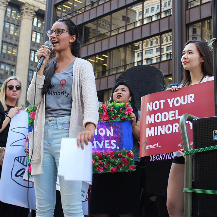 Our Chicago chapter at the Chicago Reproductive Justice Rally in late Spring 2019.