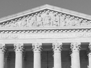 A closeup of the supreme court