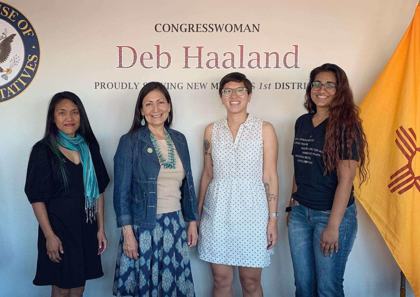 New Mexico chapter leaders meet with Congresswoman Deb Haaland.