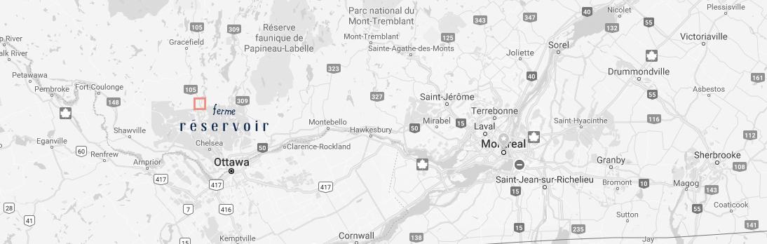 ferme reservoir on a map