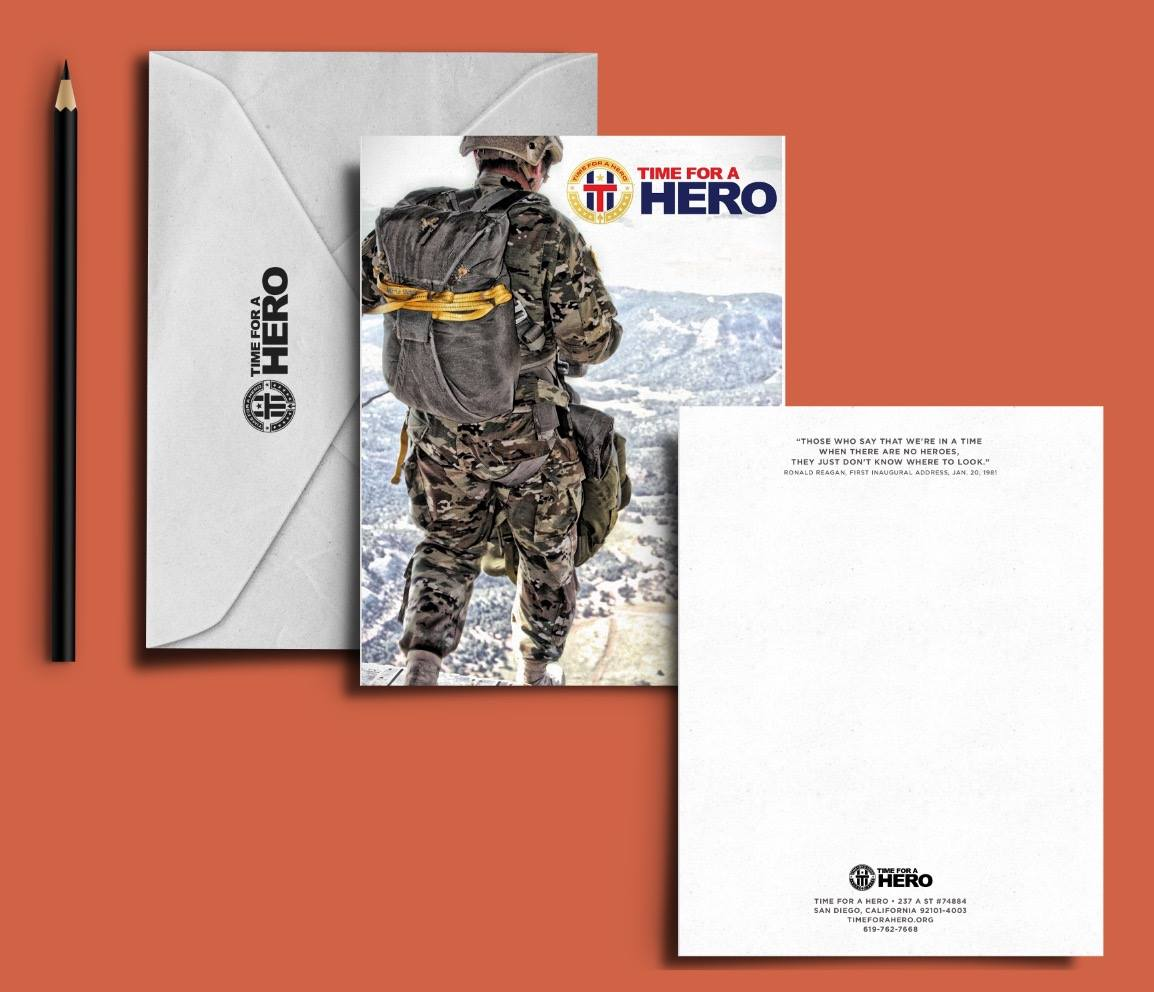 Time for a Hero notecards