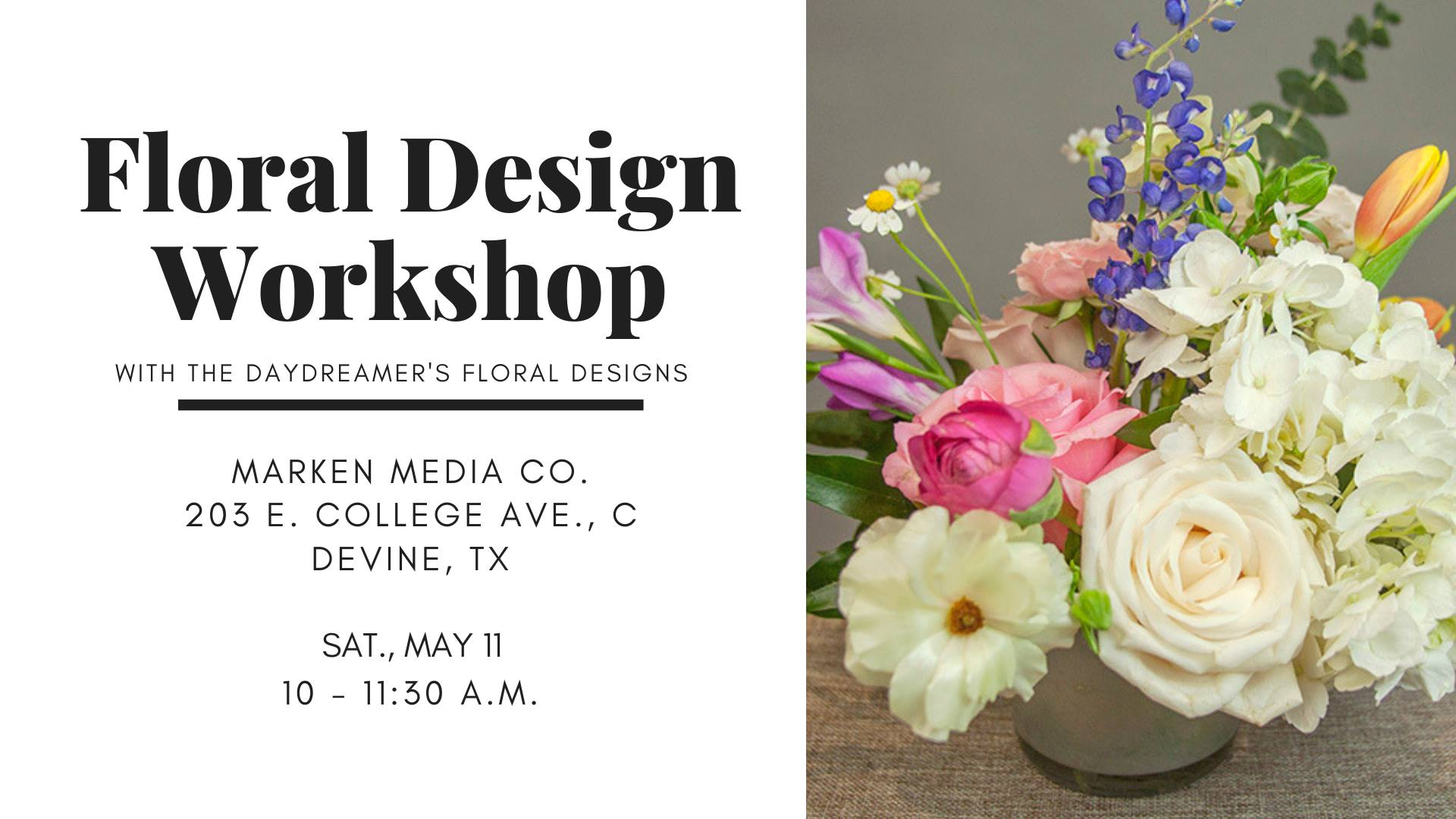 floral design workshop_San Antonio_Devine Texas_Marken Media Co