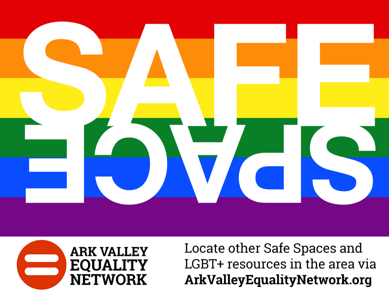 Safe Space stickers will be present in businesses who take the pledge and commit to providing a safe and inclusive environment. We also recommend that businesses take the next step and sign up to be  Safe Zone trained !