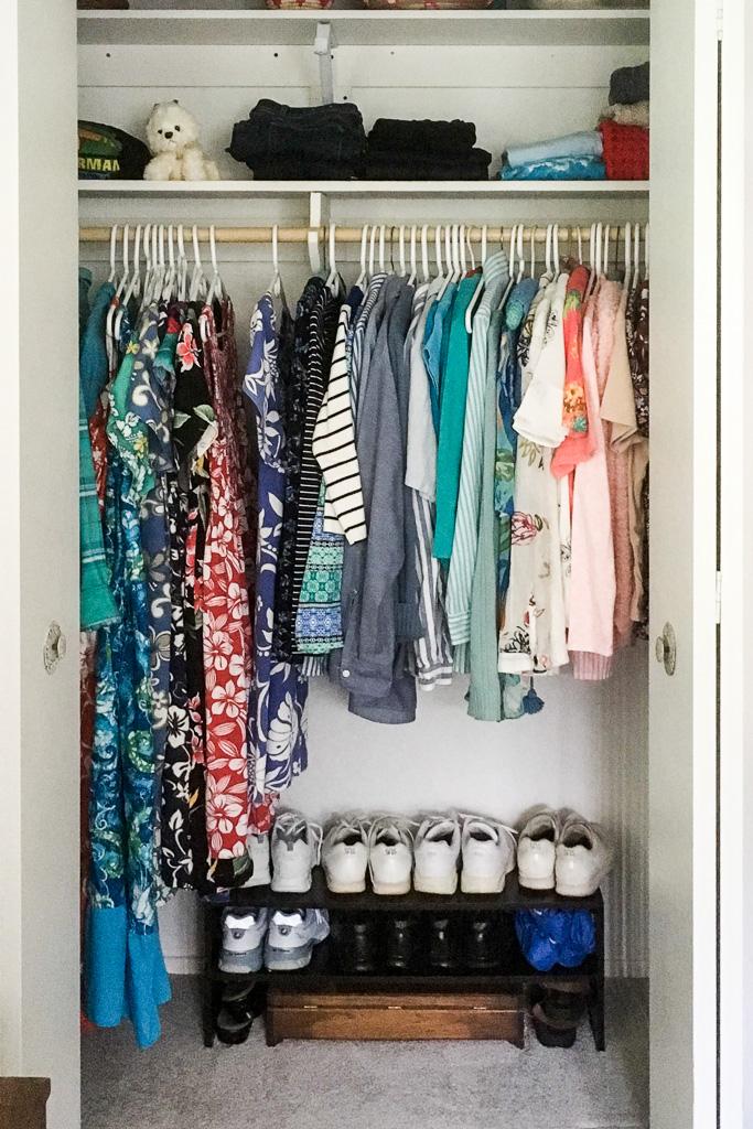 My mom's closet after using the KonMari Method!