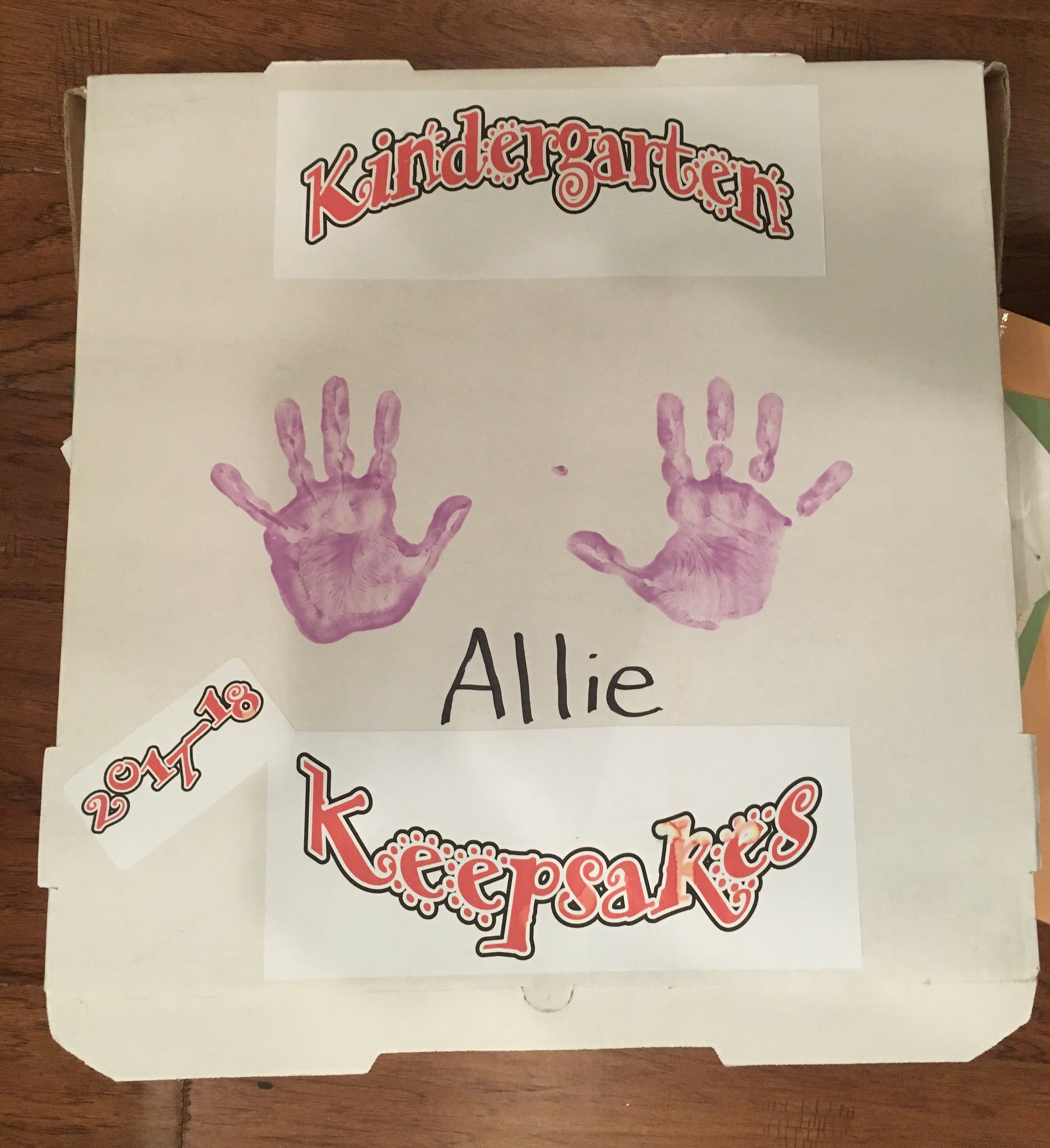 Allie's artwork box