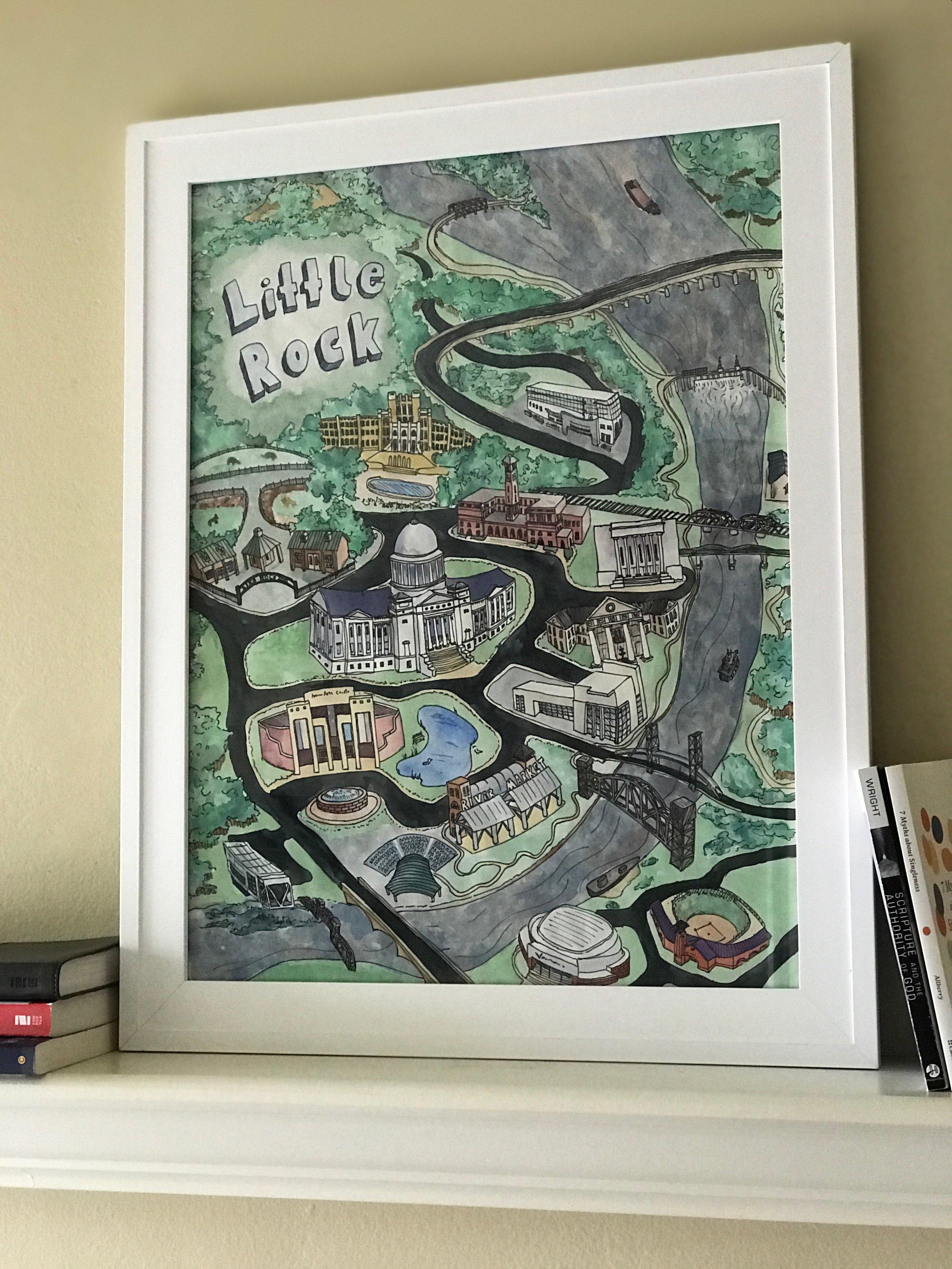 Little Rock Illustration