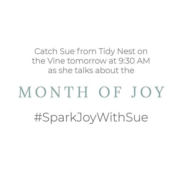 Watch tomorrow on @thevinethv11 for some of our favorite posts from the #sparkjoywithsue challenge ❤️