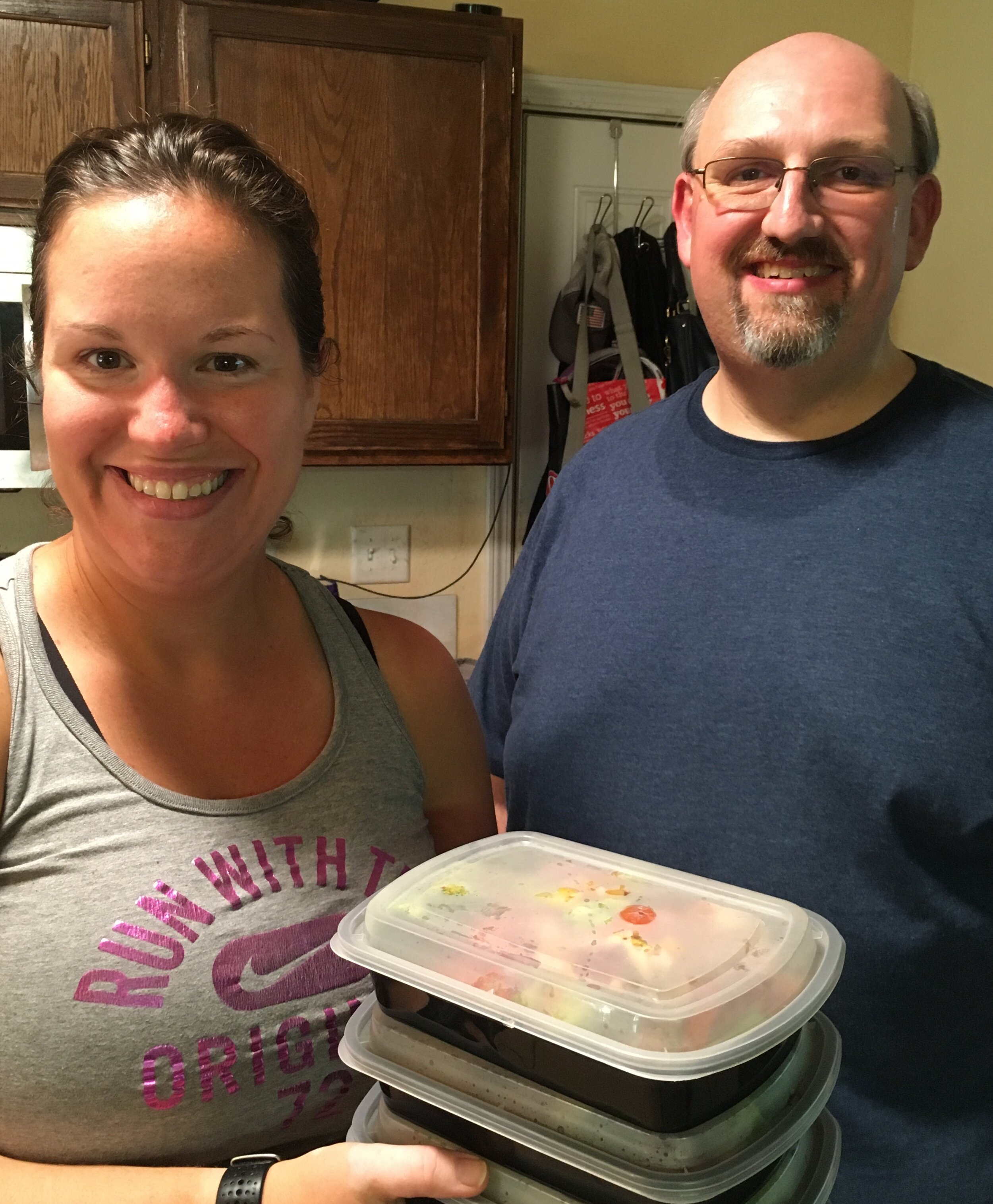 Alyson and Jeff, with two finished meals