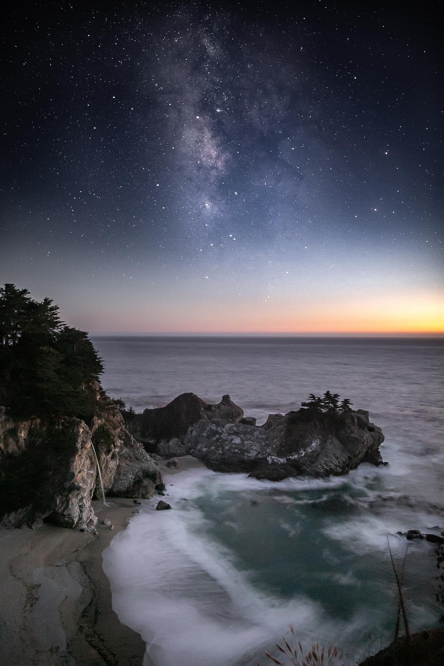 McWay Falls - Big Sur, California // Photographer: Jason Wilson // Canon 5D MK III + Rokinon 24mm // ISO 5,000, f/1.4, 8
