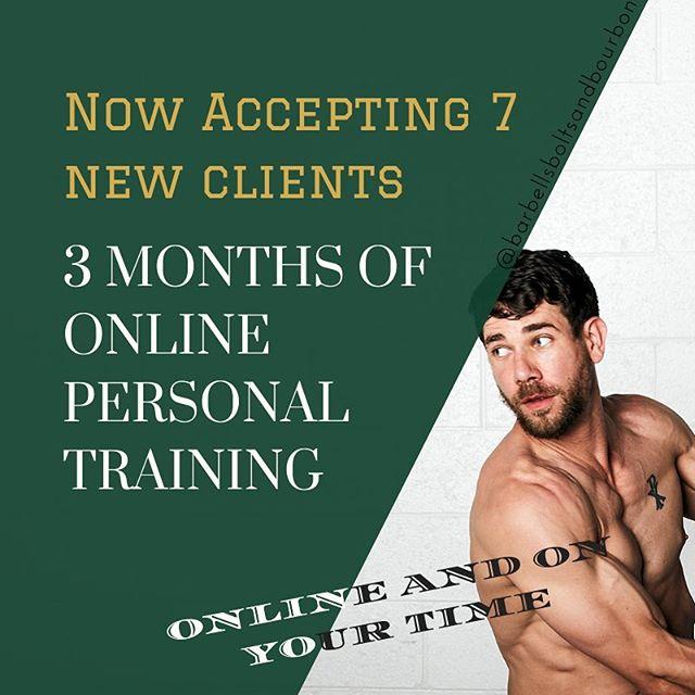 DM me if you are interested! #barbellsboltsandbourbon #train #build #enjoy #fitness #record #training #fitnessing #personaltrainer #livethedream #dream #livingthedream