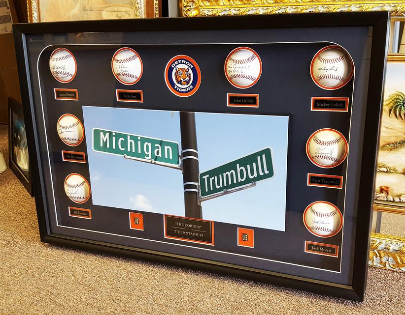 Signed Detroit Tigers Baseballs Framed