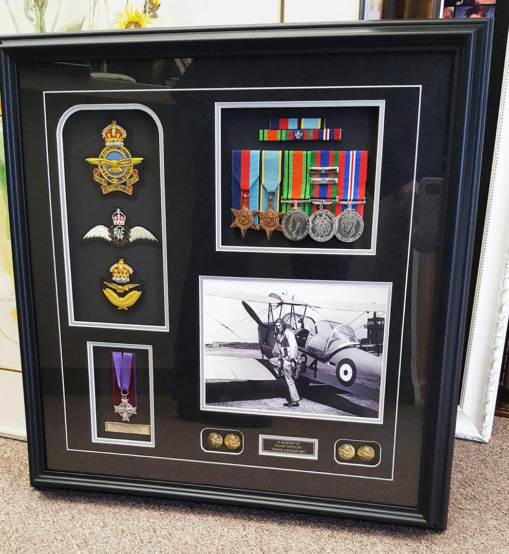 Military Medals Custom Framing