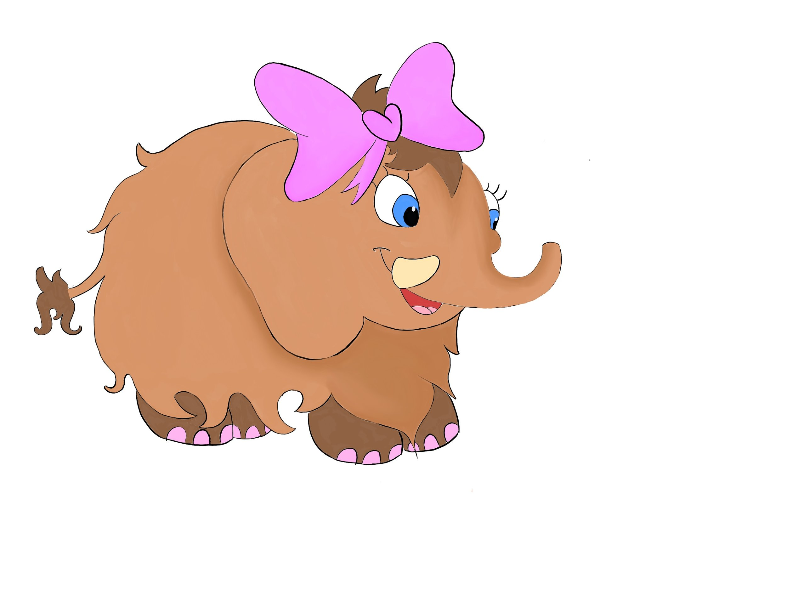 Heidi the Mammoth - Heidi is Herbie's neighbor. She's often shy but she's a great listener and has a beautiful singing voice!
