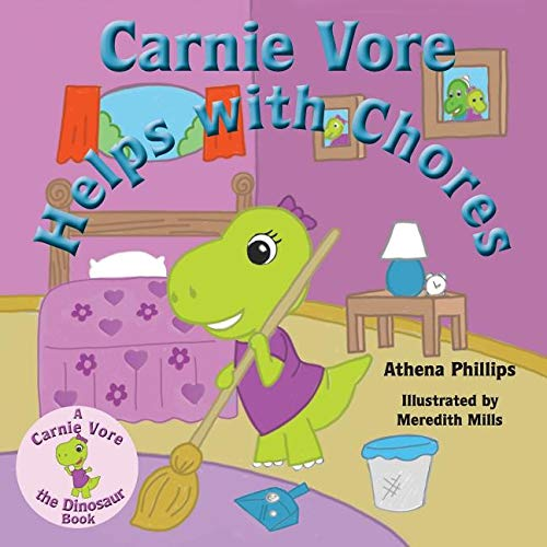 Carnie Vore the Dinosaur loves to help others! -