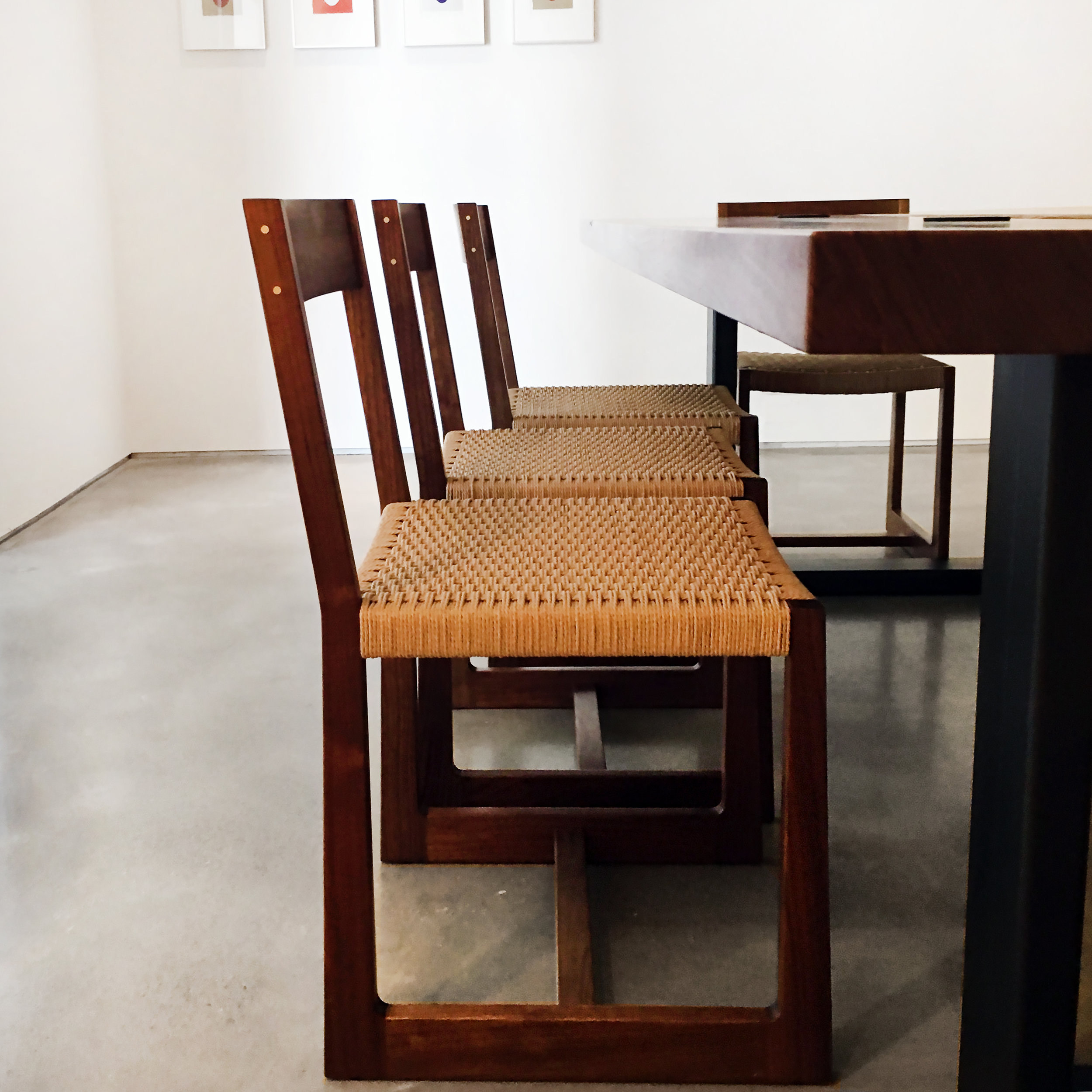 Matteawan dining chair in walnut with natural Danish cord
