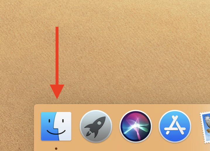 Select Finder in Dock.png