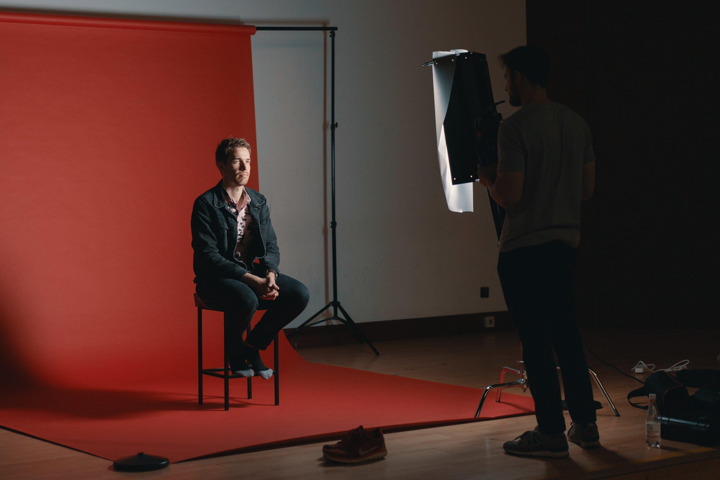 Photo By: Ross Sneddon   Corporate Video Production in Progress