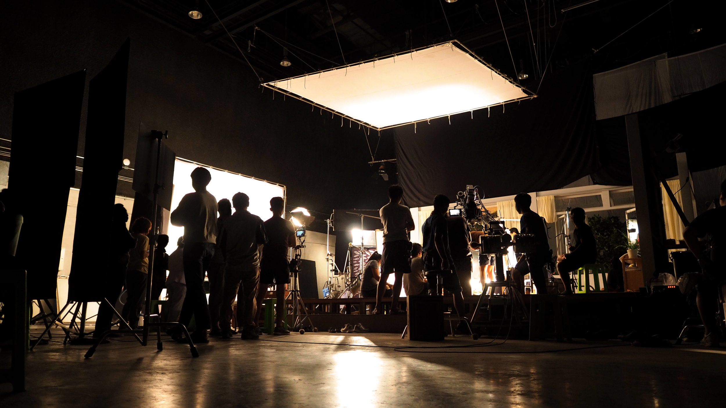 Image of a video production team underway