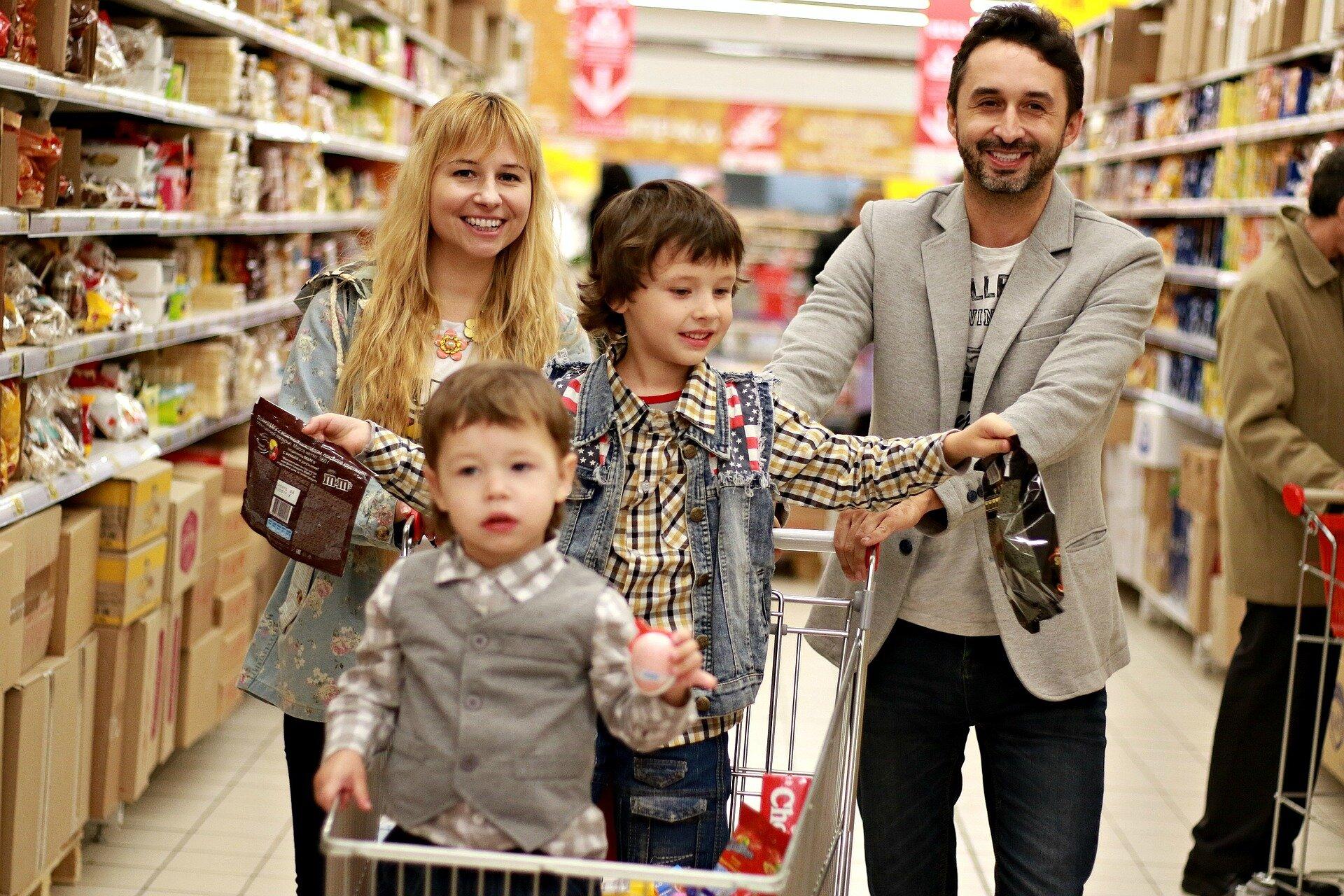 Photo By: Victoria Borodinova   Parents and Kids in Shopping Mall
