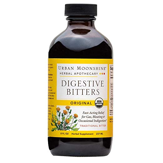 Urban Moonshine Bitters - Helps stimulate gastric juices and aids in healthy digestion when taken before meals.