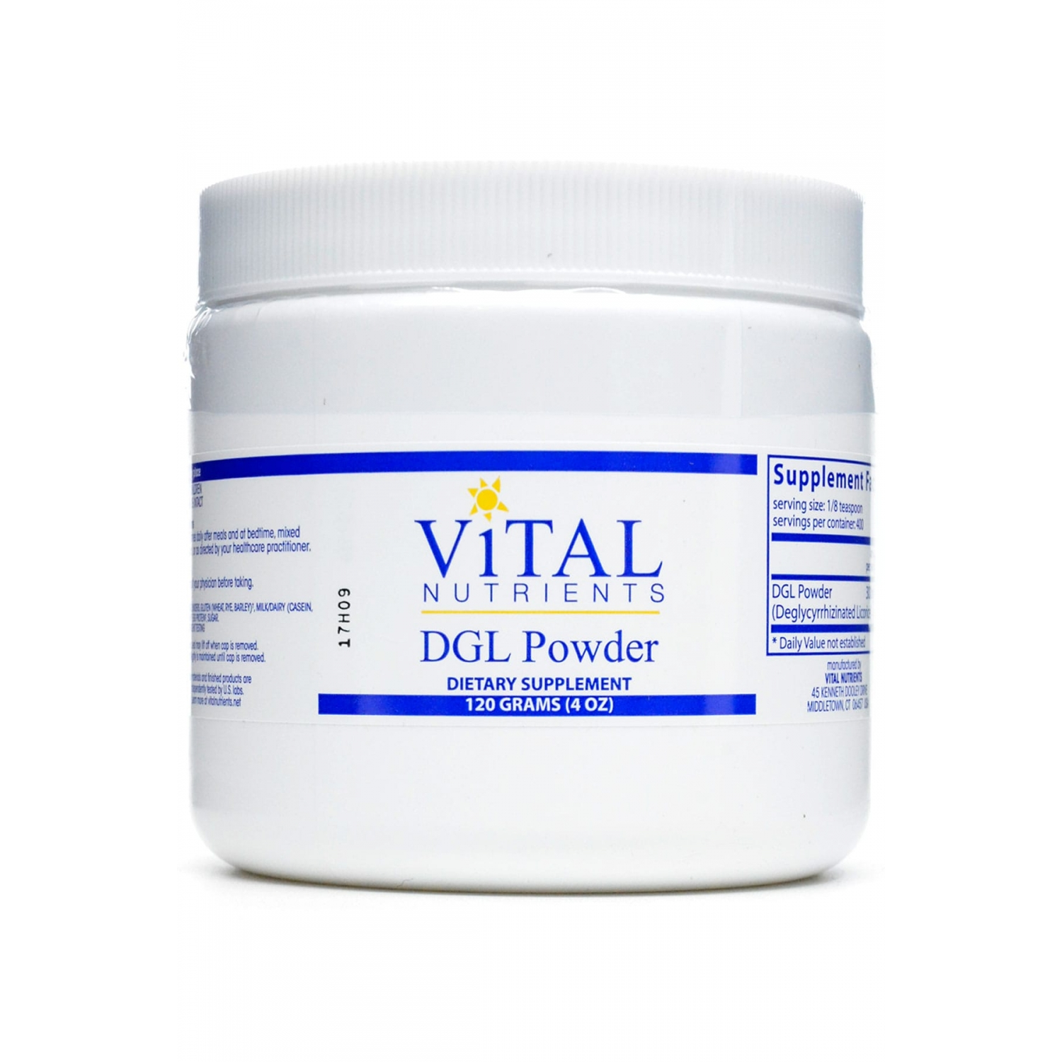 DGL Powder - A natural heartburn and acid reflux reliever that helps control the symptoms of GERD and gastritis.