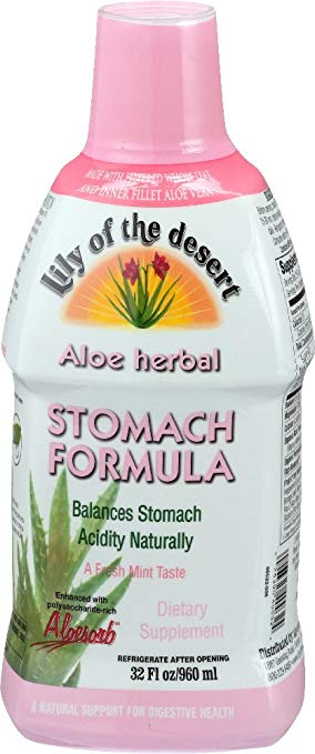 Aloe Vera Stomach Formula - A soothing aloe vera drink that coats the throat and stomach to reduce symptoms of GERD and gastritis.
