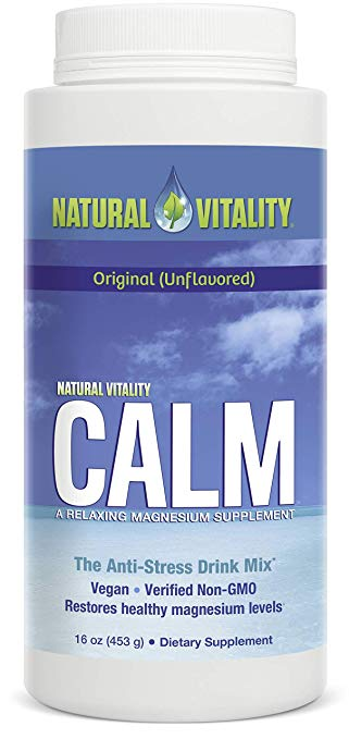 Natural Calm - A magnesium citrate supplement to help relax muscles and aid in both sleep and digestion.