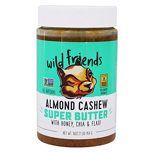 Wild Friends Nut Butter - Hands down the most addicting nut butter I've ever tried. It's sweetened with honey, and contains superfoods like flax and chia.