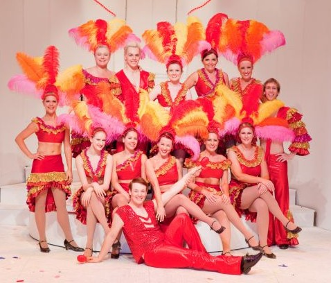 Choreographer Lauren Miller and the dance troupe