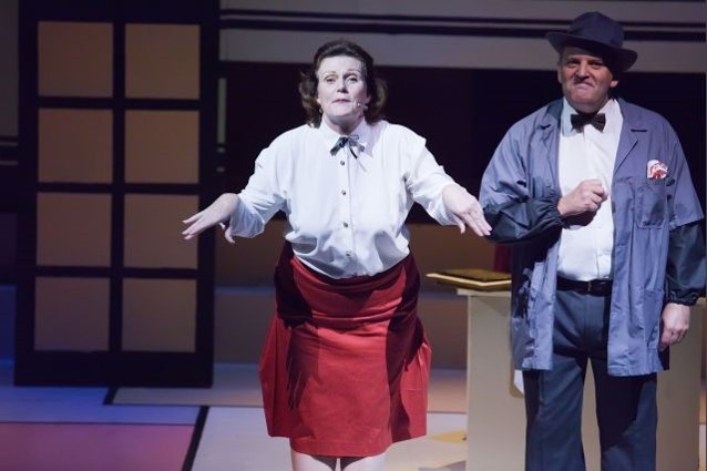 Kerrie Rochford (Mabel) / John Humphries (Hines)