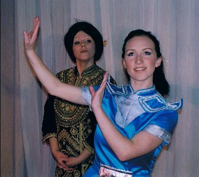 Sally Loughnan (Lady Thiang) & Jess Bertrand (Tuptim)