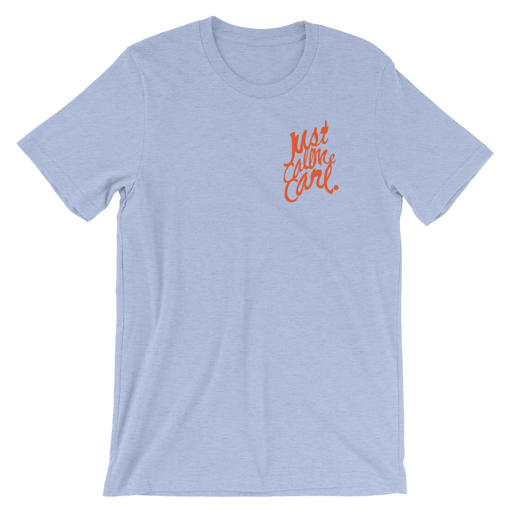 Just Call Me Carl project tees, lightweight canvas brand in 6 different color-ways.