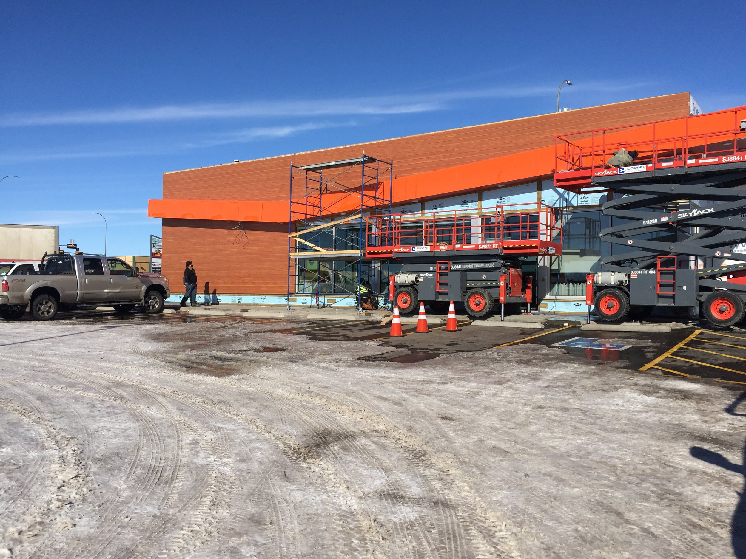 A&W - Medicine Hat  Located at 2501 Strachan RD SE, Medicine Hat, AB  A new building complete with utility coordination and electrical floor plans.