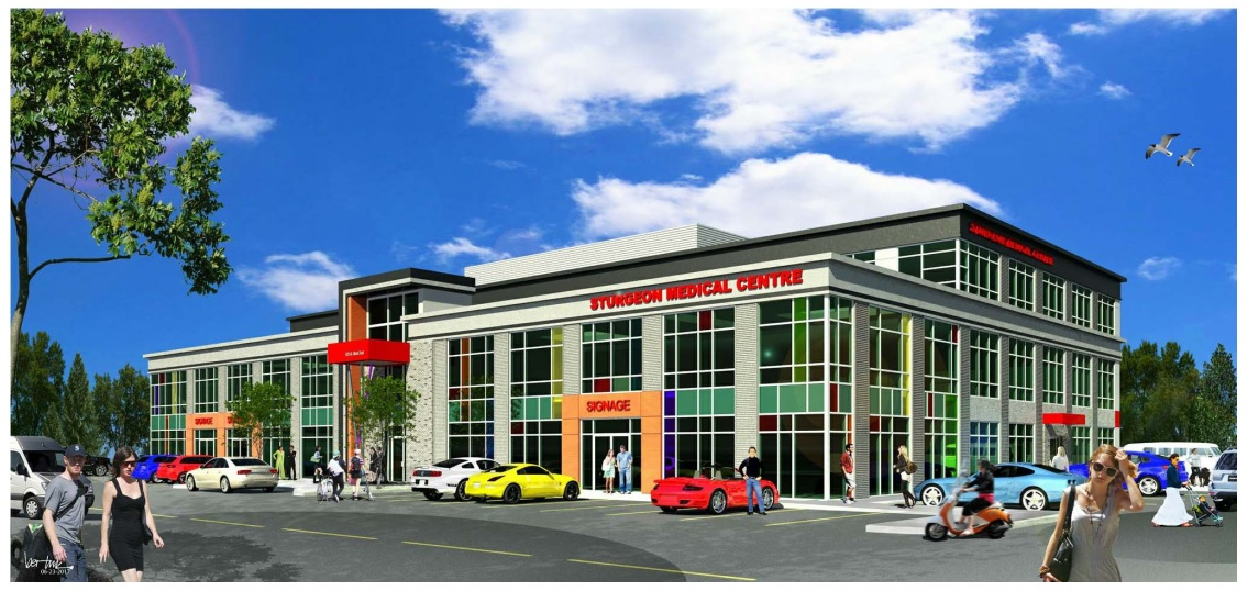 St Albert Medical Building.  Located at 625 St. Albert Trail St. Albert AB.  This project was a three storey professional office base building complete with an underground parkade.