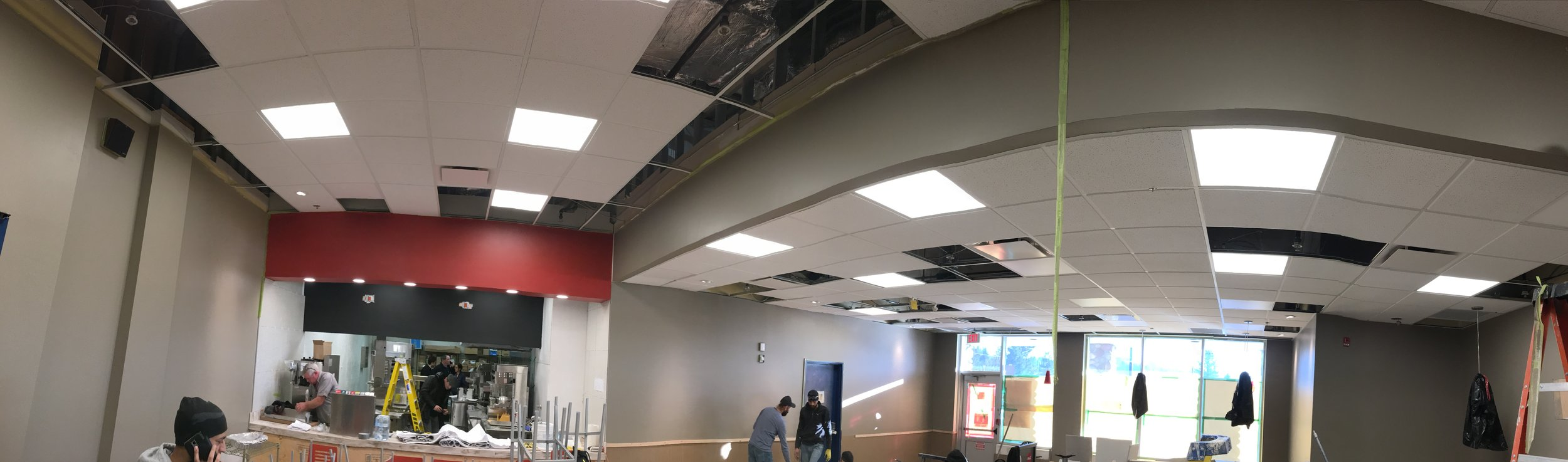 Burger King - Port Albernie  Located at 3355 Jahnston Rd Hwy 4, Port Alberni BC.  A renovation to an existing space located within a Wallmart.