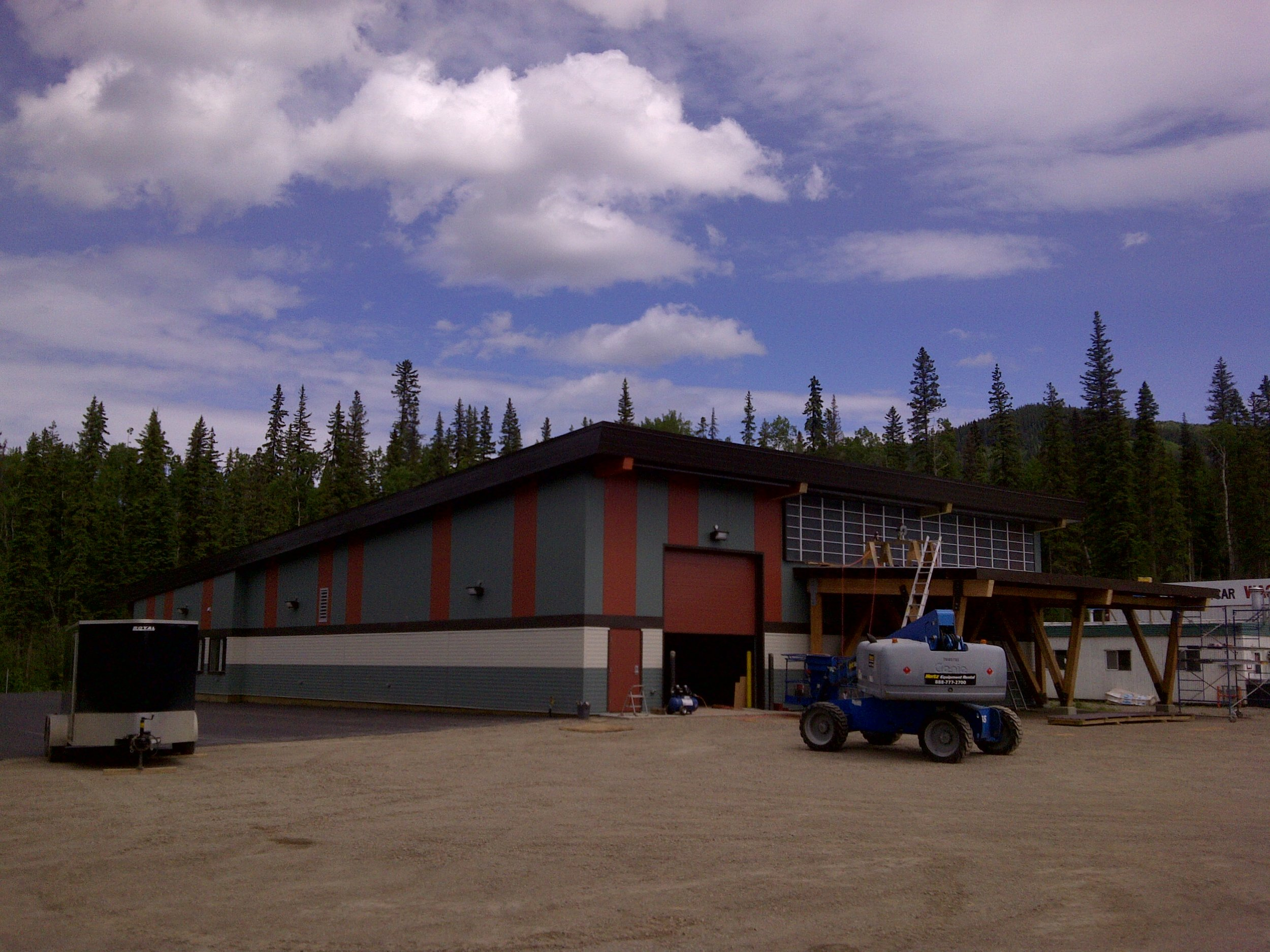 Quality Wind O&M Building  Located at 139 Commercial Park, Tumbler Ridge BC.  An office/ warehouse.
