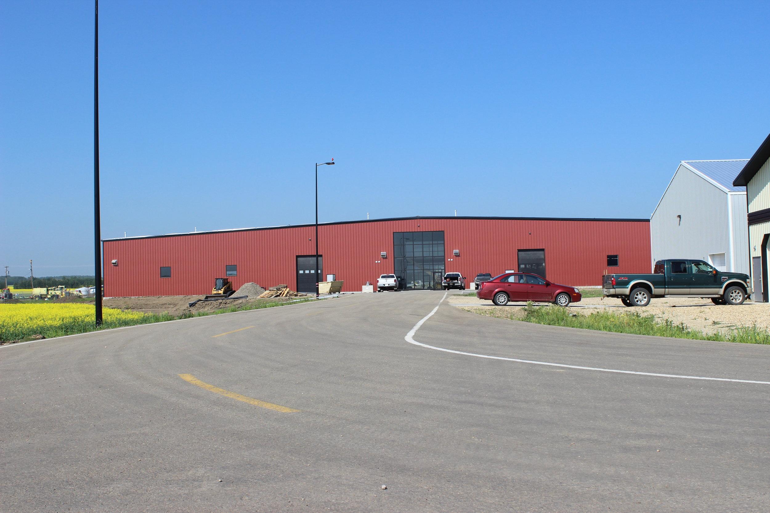 Villeneuve Aircraft Hanger  Located at Villeneuve AB.  An Aricraft Hanger for a private client.